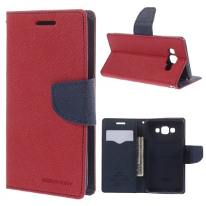 Mercury GOOSPERY for Samsung Galaxy A5 SM-A500F Fancy Diary Case PU Leather Cover Stand - Red
