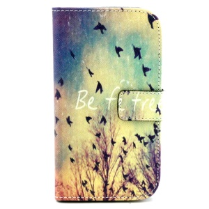 Wallet Leather Cover for Samsung Galaxy Grand Neo I9060 I9062 I9080 w/ Stand - Be Free & Flying Birds