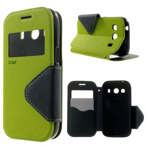 For Samsung Galaxy Ace Style LTE G357FZ / Ace 4 G357FZ Roarkorea Diary View Leather Magnetic Cover - Green