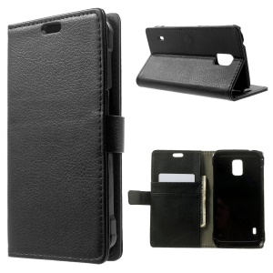 For Samsung Galaxy S5 Active G870 Lychee Skin Wallet Leather Stand Case - Black