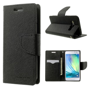 Mercury GOOSPERY Fancy Diary Leather Case Wallet for Samsung Galaxy A3 SM-A300F - Black