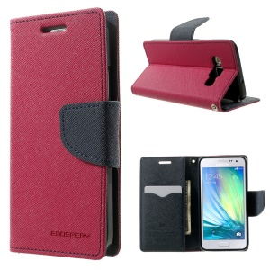Mercury GOOSPERY for Samsung Galaxy A3 SM-A300F Fancy Diary Stand Leather Wallet Case - Rose