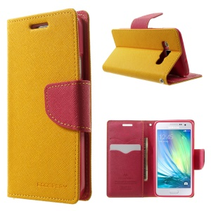 Mercury GOOSPERY Fancy Diary Leather Protective Case for Samsung Galaxy A3 SM-A300F - Orange