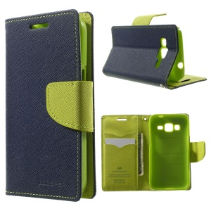 Mercury GOOSPERY Fancy Diary Leather Wallet Stand Shell for Samsung Galaxy Core Prime SM-G360 - Blue