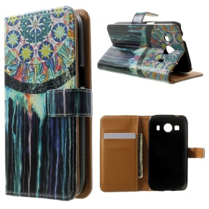 Wallet Leather Case for Samsung Galaxy Ace 4 SM-G357FZ / Ace Style LTE G357FZ - Mandala
