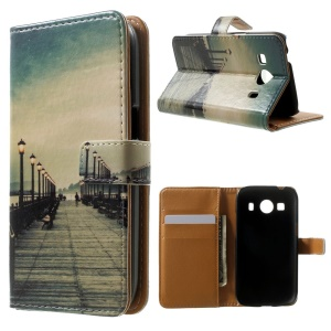 Wallet Leather Case for Samsung Galaxy Ace 4 SM-G357FZ / Ace Style LTE G357 - Bridge & Passerby