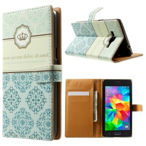 Folio Wallet Leather Stand Case for Samsung Galaxy Grand Prime SM-G530H - Laces & Crown