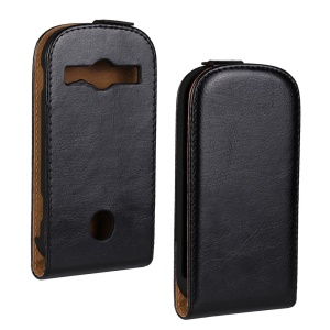 Crazy Horse Vertical Flip Leather Case for Samsung S7710 Galaxy Xcover 2 - Black