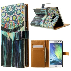 Dream Catcher Leather Wallet Case Shell for Samsung Galaxy A5 SM-A500F w/ Stand