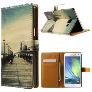 Bridge & Passerby Leather Stand Shell for Samsung Galaxy A5 SM-A500F