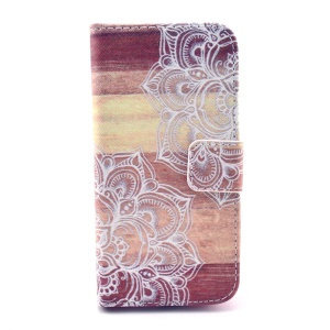 Henna Mandala Pattern Folio Magnetic Leather Wallet Stand Case Cover for Samsung Galaxy S4 mini