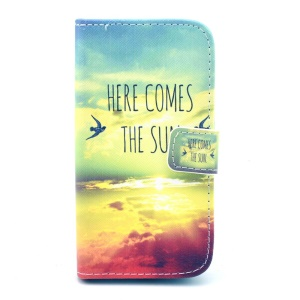 For Samsung Galaxy Core LTE G386F / Avant G386T PU Leather Case Cover - Here Comes the Sun