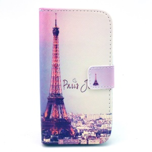 For Samsung Galaxy Core LTE G386F / Avant G386T Card Slot Leather Case Stand - Paris Eiffel Tower