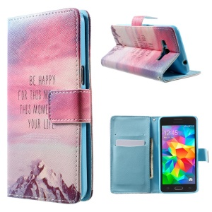 For Samsung Galaxy Grand Prime SM-G530H Leather Case - Quote & Snow Mountain