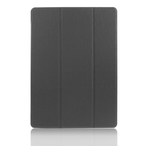 ENKAY Tri-fold Leather Case for Samsung Galaxy Tab S 10.5 T800 T805 Toothpick Grain w/ Stand - Black
