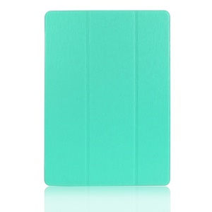 ENKAY Tri-fold Stand Leather Protective Case for Samsung Galaxy Tab S 10.5 T800 T805 - Cyan