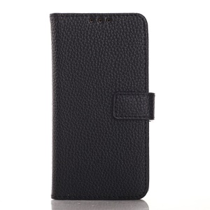 Litchi Grain PU Leather Case for Samsung Galaxy Core Prime G360 - Black