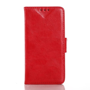 Oil Buffed Wallet Leather Cover for Samsung Galaxy Core Prime G360 - Red
