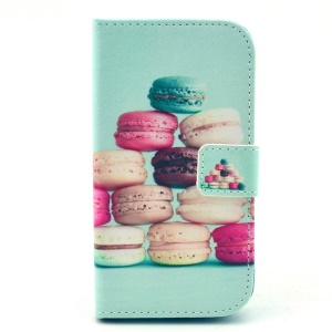 Leather Wallet Stand Case for Samsung Galaxy Core LTE G386F / Avant SM-G386T - Colorful Macarons