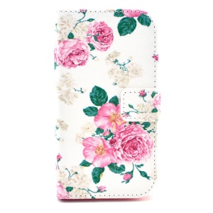 Leather Wallet Stand Case for Samsung Galaxy Core Plus G3500 / Trend 3 G3502 - Charming Peony