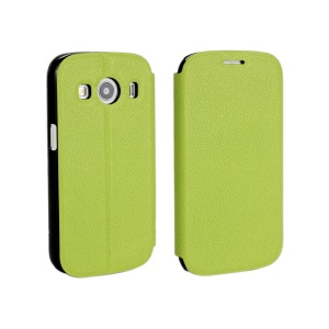 Slim Leather Stand Cover for Samsung Galaxy Ace 4 SM-G357FZ / Ace Style LTE G357 - Green