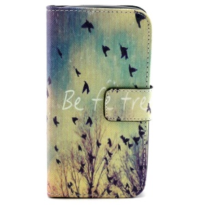 Wallet Leather Stand Case for Samsung Galaxy Core LTE G386F / Avant G386T - Flying Birds