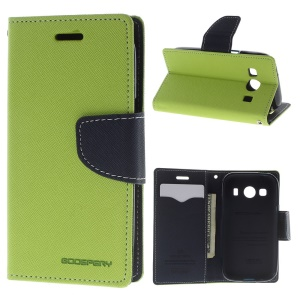 Mercury GOOSPERY Fancy Diary for Samsung Galaxy Ace 4 G357FZ Leather Wallet Cover - Green