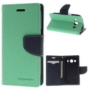 Mercury GOOSPERY Fancy Diary for Samsung Galaxy Ace Style LTE G357 Leather Wallet Shell - Cyan