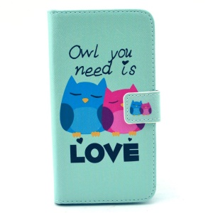 Leather Wallet Purse Cover for Samsung Galaxy S6 G920 - Owl You Need Is Love