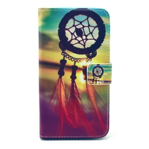 Dream Catcher & Sunset Leather Wallet Case for Samsung Galaxy S6 G920