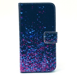 Glittery Tatter for Samsung Galaxy S6 G920 Leather Wallet Bracket Cover