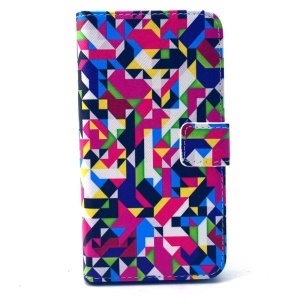 Seamless Geometric Pattern PU Leather Card Holder Case for Samsung Galaxy S6 G920