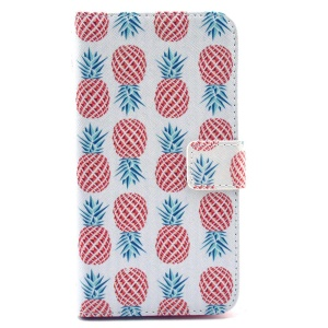 Red Pineapple Wallet Leather Stand Cover for Samsung Galaxy S6 G920