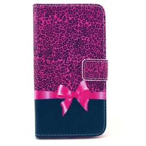 Cute Bowknot & Leopard Wallet Leather Stand Case for Samsung Galaxy S6 G920