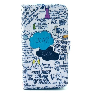 Graffiti Characters Leather Case for Samsung Galaxy S6 G920 with Card Slots