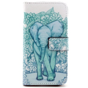 Giant Elephant PU Leather Stand Cover for Samsung Galaxy S6 G920
