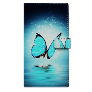 Wallet Leather Case for Samsung Galaxy S6 G920 with Stand - Flying Butterfly