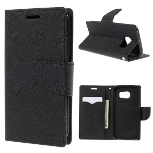 MERCURY Goospery Wallet Leather Case for Samsung Galaxy S6 Edge G925 - Black