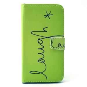 Leather Card Holder Cover for Galaxy Grand Prime SM-G530H - Letter Laugh