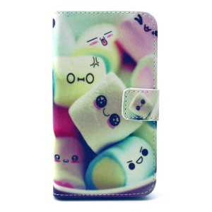 Cute Dessert Leather Stand Wallet Cover for Galaxy Core Prime SM-G360