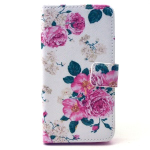 Rose Flowers Wallet Leather Stand Case for Samsung Galaxy A3 SM-A300F