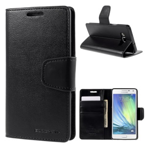 MERCURY Goospery Sonata Diary Wallet Leather Case for Samsung Galaxy A5 SM-A500F - Black