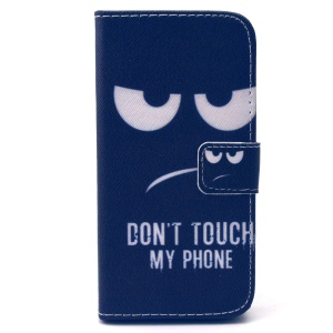 Wallet Leather Stand Cover for Samsung Galaxy S5 mini G800 - Do not Touch My Phone