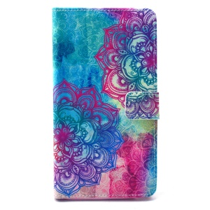 Leather Wallet Protective Case for Galaxy Note 4 N910 - Elegant Mandala Pattern