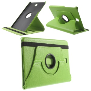 Lychee Grain Leather Cover for Samsung Galaxy Tab A 8.0 T350 with 360 Degree Rotary Stand - Green