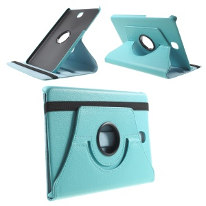 Lychee Grain Leather Rotary Stand Cover for Samsung Galaxy Tab A 8.0 T350 - Baby Blue