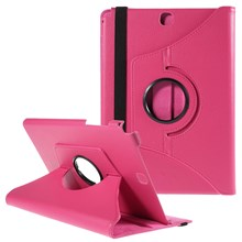 Rotary Stand Lychee Leather Case for Samsung Galaxy Tab A 9.7 T550 T555 - Rose
