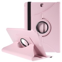 Rotary Stand Lychee Leather Case for Samsung Galaxy Tab A 9.7 T550 T555 - Pink