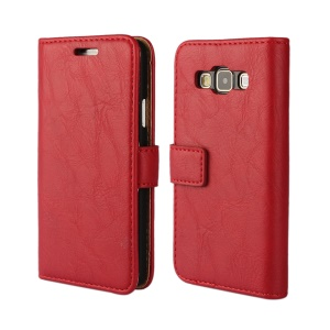 Folio Leather Wallet Phone Case for Samsung Galaxy A3 SM-A300F - Red