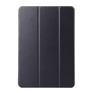 Textured Smart Leather Case for Samsung Galaxy Tab A 9.7 T550 T555 with Tri-fold Stand - Black